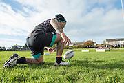 Picture by Allan McKenzie/SWpix.com - 10/11/2016 - Rugby League - 2016 Ladbrokes 4 Nations - New Zealand Kiwis Captains Run - Aspatria Rugby Club, Aspatria, England - Issac Luke prepares to kick a conversion. Copyright Image: SWPix / www.photosport.nz