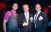 Jonathan Lovitz (L), Jack Osborn, Richard Oceguera. NGLCCNY Shining Stars Awards presented October 25, 2012.