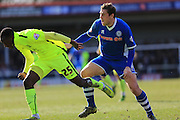 Glen Kamara , Grant Holtduring the Sky Bet League 1 match between Rochdale and Southend United at Spotland, Rochdale, England on 25 March 2016. Photo by Daniel Youngs.