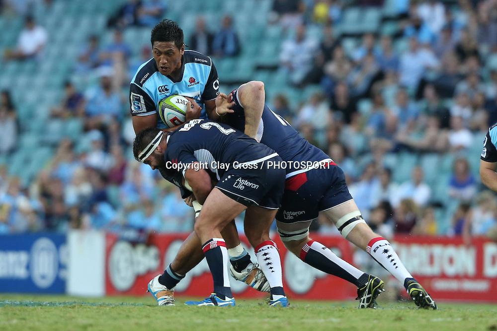 Sam Lousi. Waratahs v Rebels, Super Rugby Round 6. Played at Allianz Stadium, Sydney Australia on Sunday 3 April 2016. Copyright Photo: Clay Cross / photosport.nz
