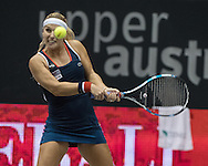Dominika Cibulkova (SVK) during the quarter finals of the WTA Generali Ladies Linz Open at TipsArena, Linz<br /> Picture by EXPA Pictures/Focus Images Ltd 07814482222<br /> 14/10/2016<br /> *** UK &amp; IRELAND ONLY ***<br /> <br /> EXPA-REI-161014-5007.jpg