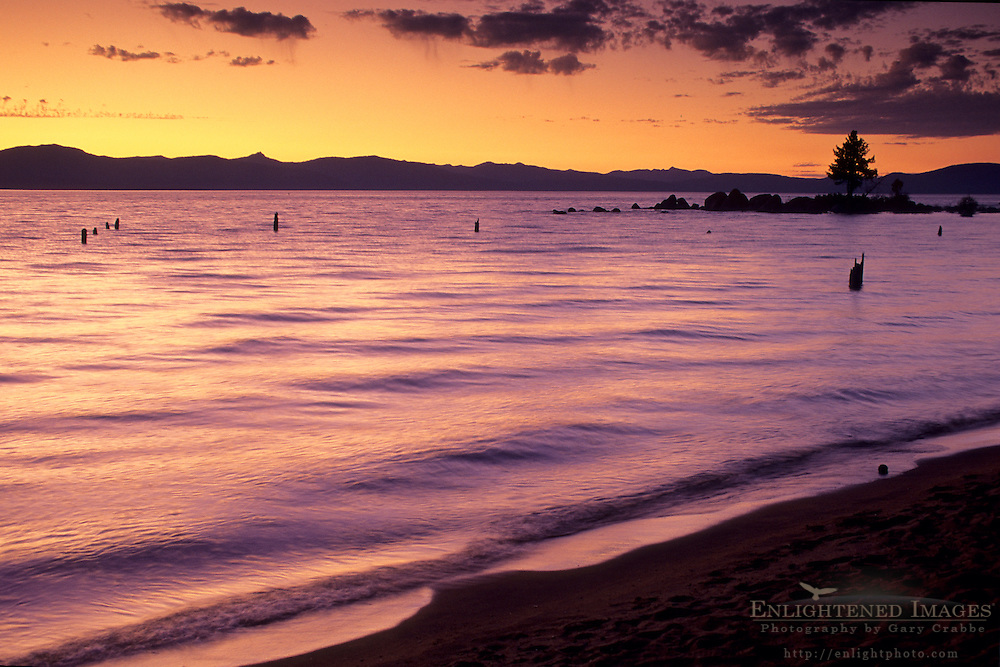 Sunset over Lake Tahoe, Nevada