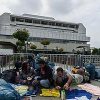25 Füchtlingsprotest vor dem LaGeSo am ICC