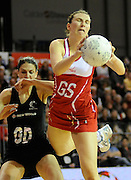 Rachel Dunn in action for England, during New World Netball Series, New Zealand Silver Ferns v England at The ILT Velodrome, Invercargill, New Zealand. Thursday 6 October 2011 . Photo: Richard Hood photosport.co.nz