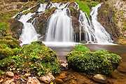 Waterfall with three streams
