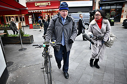 © Licensed to London News Pictures. 13/03/2019. London, UK. BORIS JOHNSON MP is seen arriving for Radio phone in the day after MPs voted to reject the PMs Brexit deal. Parliament Voted by a majority of 149 against the Prime Ministers deal, with A new vote on 'No Deal' being held this evening. Photo credit: Ben Cawthra/LNP