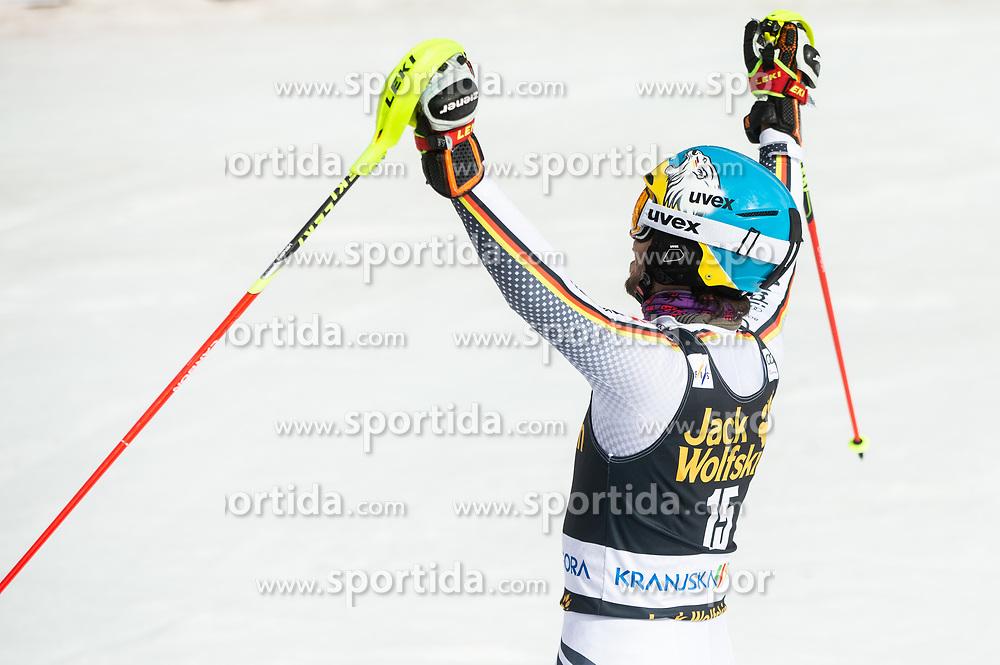 NEUREUTHER Felix of Germany celebrates during the Audi FIS Alpine Ski World Cup Men's Slalom 58th Vitranc Cup 2019 on March 10, 2019 in Podkoren, Kranjska Gora, Slovenia. Photo by Matic Ritonja / Sportida
