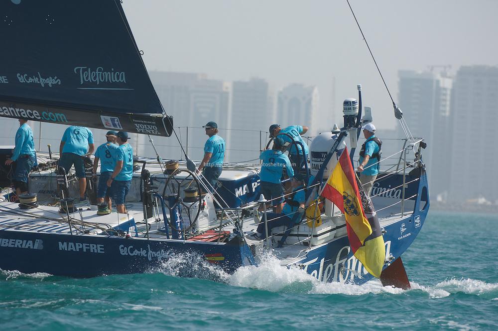 13.01.2012, Abu Dhabi. Volvo Ocean Race, abu dhabi in port race