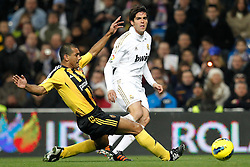 28.01.2012, Santiago Bernabeu Stadion, Madrid, ESP, Primera Division, Real Madrid vs Real Saragossa, 21. Spieltag, im Bild Real Madrid's KAKA and Zaragoza's // during the football match of spanish 'primera divison' league, 21th round, between Real Madrid and Real Saragossa at Santiago Bernabeu stadium, Madrid, Spain on 2012/01/28. EXPA Pictures © 2012, PhotoCredit: EXPA/ Alterphotos/ Cesar Cebolla..***** ATTENTION - OUT OF ESP and SUI *****