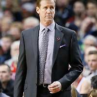 02 December 2013: Portland Trail Blazers head coach Terry Stotts is seen during the Portland Trail Blazers 106-102 victory over the Indiana Pacers at the Moda Center, Portland, Oregon, USA.