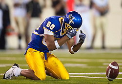 October 10, 2009; San Jose, CA, USA;  San Jose State Spartans wide receiver Jalal Beauchman (88) reacts after dropping a pass against the Idaho Vandals in the third quarter at Spartan Stadium.  Idaho won 29-25.