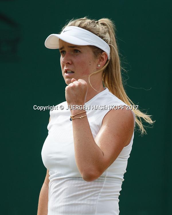 ELINA SVITOLINA (UKR) macht die Faust und jubelt,Jubel,Freude,Emotion<br /> <br /> Tennis - Wimbledon 2017 - Grand Slam ITF / ATP / WTA -  AELTC - London -  - Great Britain  - 7 July 2017.