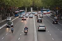 san vicente avenue street scene in madrid