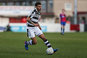 Forest Green Rovers Kaiyne Woolery(14) runs forward during the Vanarama National League match between Dagenham and Redbridge and Forest Green Rovers at the London Borough of Barking and Dagenham Stadium, London, England on 11 March 2017. Photo by Shane Healey.