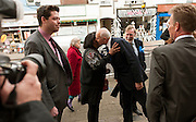 PPC's Craig MacKinlay and Will Scobie with Dianne Abbott and Iain Duncan-Smith in the Thanet South constituency, 17th April 2015.