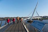 Londonderry Peace Bridge Northern Ireland Europe Brexitland