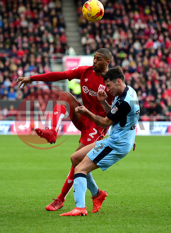 Mark Little of Bristol City battles for the ball with Joe Newell of Rotherham United  - Mandatory by-line: Joe Meredith/JMP - 04/02/2017 - FOOTBALL - Ashton Gate - Bristol, England - Bristol City v Rotherham United - Sky Bet Championship