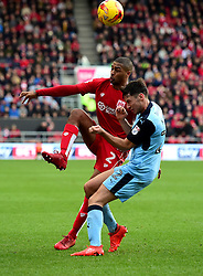 Mark Little of Bristol City battles for the ball with Joe Newell of Rotherham United  - Mandatory by-line: Joe Meredith/JMP - 04/02/2017 - FOOTBALL - Ashton Gate - Bristol, England - Bristol City v Rotherham United - Sky Bet Championship