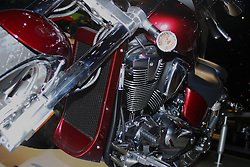 09 February 2005:   Honda motorcycle.<br /> <br /> First staged in 1901, the Chicago Auto Show is the largest auto show in North America and has been held more times than any other auto exposition on the continent.  It has been  presented by the Chicago Automobile Trade Association (CATA) since 1935.  It is held at McCormick Place, Chicago Illinois