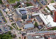 aerial photograph of Leicester University Leicestershire  England UK