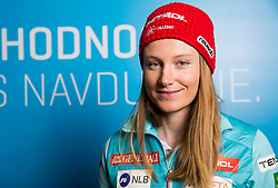 Ana Drev during press conference of Slovenian Alpine Ski team after the end of the season 2016/17, on March 22, 2017 in Telekom Slovenije, Ljubljana, Slovenia. Photo by Vid Ponikvar / Sportida