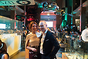 AIMEE STEBBING; PROF JUSTIN STEBBING, Action Against Cancer 'A Voyage of Discovery' fundraising dinner at the Science Museum on Wednesday 14 October 2015.