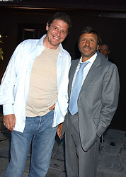 Left to right, MARCO PIERRE WHITE and the HON.SIR ROCCO FORTE at the opening party of the new Frankie's Italian Bar and Grill hosted by Frankie Dettori, Marco Pierre White and Edward Taylor at 68 Chiswick High Road, London W4 on 1st September 2005.<br /><br />NON EXCLUSIVE - WORLD RIGHTS