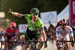 PARRINELLOAntonio (ITA) of GM Europa Ovini Team celebrates after winning during International cycling race 3rd Adria Mobil Grand Prix, on April 2, 2017 in Novo mesto and neighbourhood, Slovenia. Photo by Vid Ponikvar / Sportida