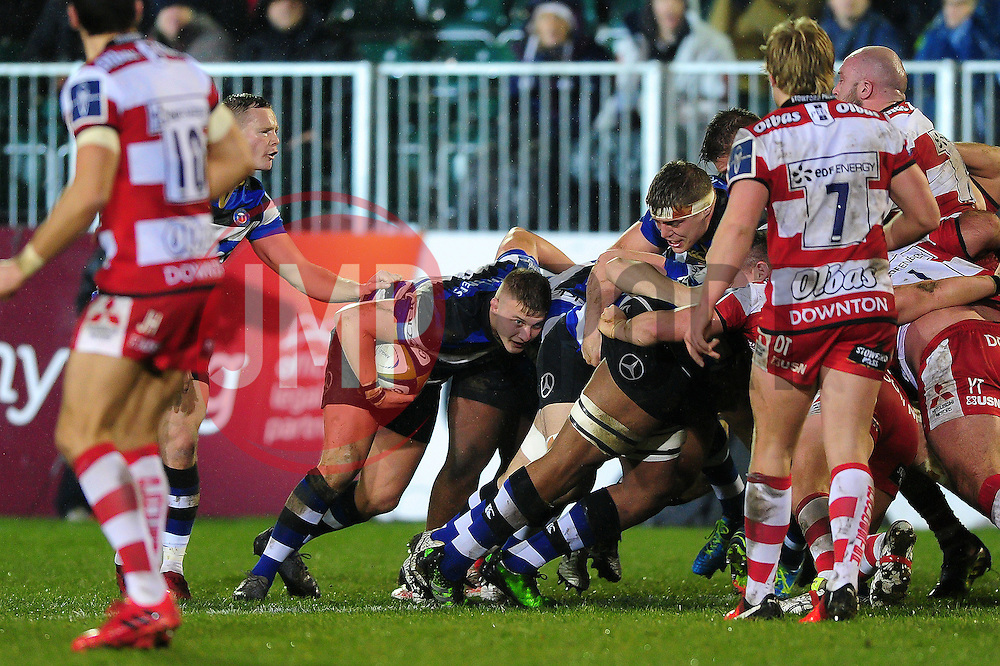 Jack Walker of Bath Rugby in possession at the back of a maul - Mandatory byline: Patrick Khachfe/JMP - 07966 386802 - 27/01/2017 - RUGBY UNION - The Recreation Ground - Bath, England - Bath Rugby v Gloucester Rugby - Anglo-Welsh Cup.