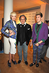 Left to right, Model AGYNESS DEYNE, DIEGO DELLA VALLE CEO & President of TOD's and designer HENRY HOLLAND at the TOD's Art Plus Film Party 2008 hosted by The Whitechapel Art Gallery at a former church at 1 Marylebone Road, London NW1 on 6th March 2008.<br /><br />NON EXCLUSIVE - WORLD RIGHTS