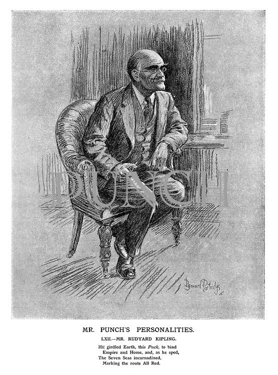 Mr Punch's Personalities. LXII. - Mr. Rudyard Kipling.
