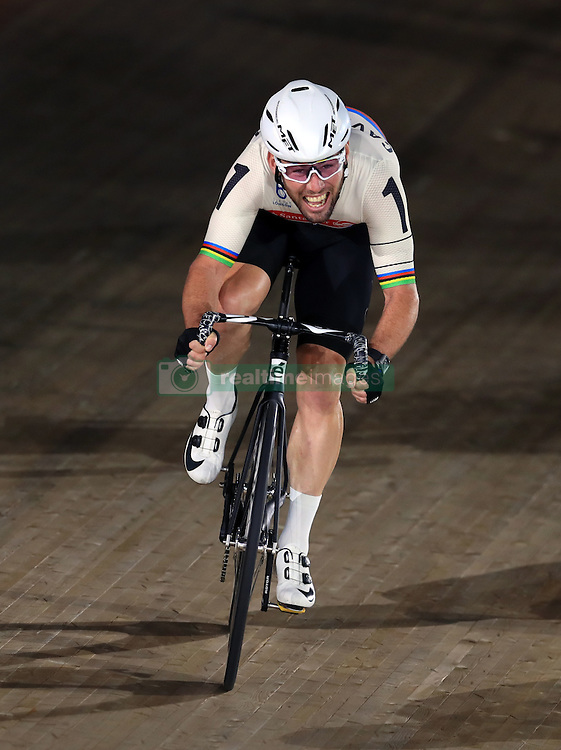 Great Britain's Mark Cavendish competes in the Men's Final Chase during day six of the Six Day Event at Lee Valley Velopark, London.