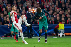 08-05-2019 NED: Semi Final Champions League AFC Ajax - Tottenham Hotspur, Amsterdam<br /> After a dramatic ending, Ajax has not been able to reach the final of the Champions League. In the final second Tottenham Hotspur scored 3-2 / Dusan Tadic #10 of Ajax, Dele Alli #20 of Tottenham Hotspur