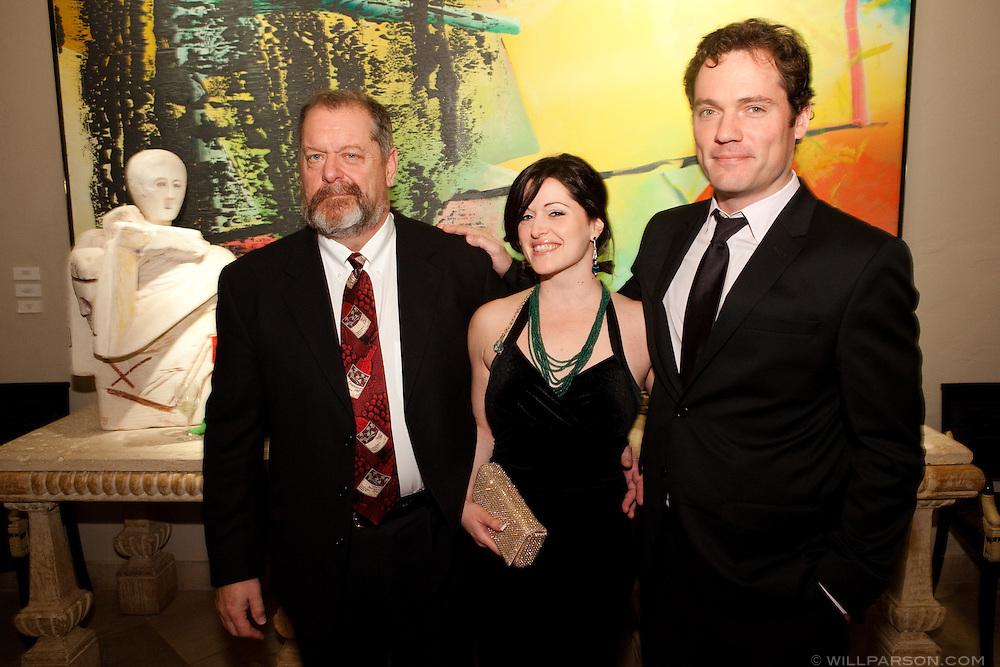 Neal, Leetal and Alex Katz.