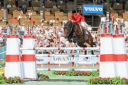 Lansink Jos- Libero H<br /> World Equestrian Games Stockholm 1990<br /> Photo © Dirk Caremans