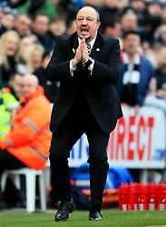 Newcastle United manager Rafa Benitez reacts - Mandatory by-line: Matt McNulty/JMP - 11/02/2018 - FOOTBALL - St James Park - Newcastle upon Tyne, England - Newcastle United v Manchester United - Premier League
