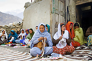 Women in a sewing group in mountain village of Altit in Hunza region of Karokoram Mountains, Pakistan
