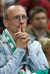 Slovenian fan during the EuroBasket 2009 Semi-final match between Slovenia and Serbia, on September 19, 2009, in Arena Spodek, Katowice, Poland. Serbia won after overtime 96:92.  (Photo by Vid Ponikvar / Sportida)