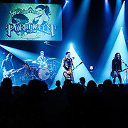 Band Porn Queen performing live at the Rockhal concert venue in Luxembourg, Europe on April 12, 2014