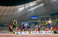 2019 IAAF World athletics Championship, Khalifa International Stadium, Doha, Qatar 27/9/2019 Men s 400m Hurdles Heats Ireland s Thomas Barr on the way to finishing second to qualify behind Norway s Karsten Warholm Thomas Barr on the way to finishing second to qualify behind Karsten Warholm 27/9/2019 Norway only