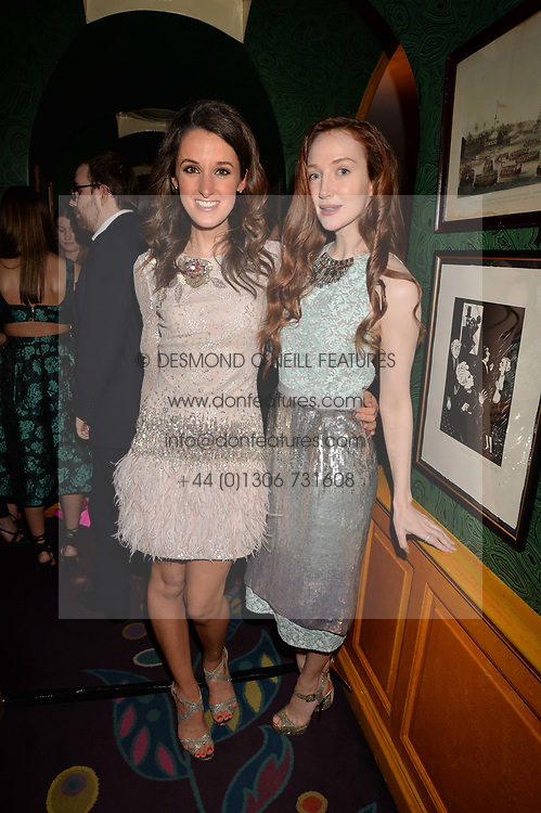 Left to right, Rosanna Falconer and Olivia Grant at the Annabel's Bright Young Things Party at Annabel's, Berkeley SquareLondon England. 8 June 2017.<br /> Photo by Dominic O'Neill/SilverHub 0203 174 1069 sales@silverhubmedia.com