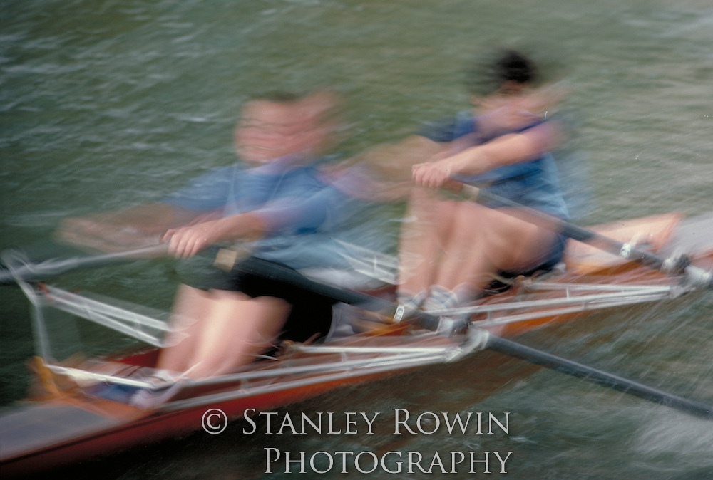 Women Scullers on Charles River