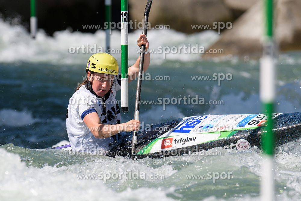 Eva Alina HOCEVAR of Slovenia during the Canoe Single (WK1) Womens Semi Final race of 2019 ICF Canoe Slalom World Cup 4, on June 28, 2019 in Tacen, Ljubljana, Slovenia. Photo by Sasa Pahic Szabo / Sportida