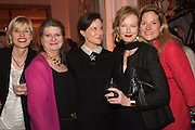 JOANNA PEYTON-JONES; ELIZABETH PEYTON-JONES; LUCINDA PEYTON-JONES; JULIA PEYTON-JONES;  MARINA PEYTON-JONES, The Veuve Clicquot Business Woman Award. Claridge's Ballroom. London W1. 11 May 2015.
