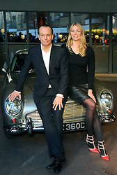 © Licensed to London News Pictures. 30/01/2015. London. Presenters, Jodie Kidd & Quentin Wilson at the launch for the new Channel 5 TV show, The Classic Car Show at Soho Hotel, London on (30.01.2015). The new show starts on 5th Feb 2015. (Byline:Grant Falvey/LNP)