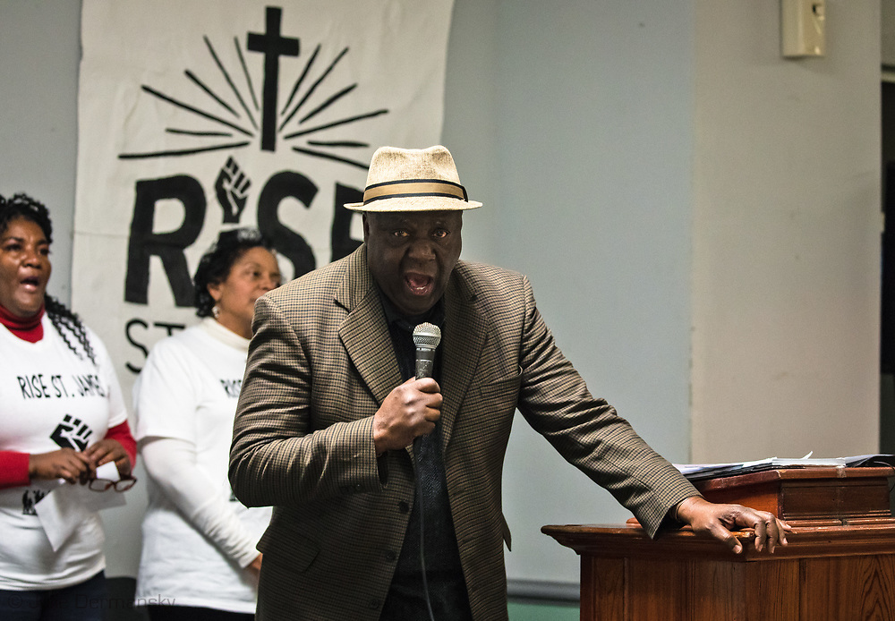 Pat Bryant at a RISE St James rivial tent event.
