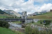 Old stone bridge, Italy, Lombardy near Brescia