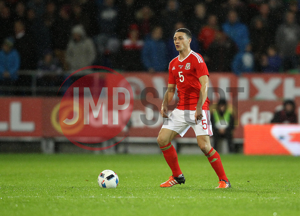 James Chester of Wales - Mandatory byline: Robbie Stephenson/JMP - 07966 386802 - 13/11/2015 - FOOTBALL - Cardiff City Stadium - Cardiff, Wales - Wales v Netherlands - International Friendly
