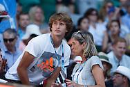 ALEXANDER ZVEREV (GER) und Mutter Irina in der Spieler Loge<br /> <br /> Australian Open 2017 -  Melbourne  Park - Melbourne - Victoria - Australia  - 22/01/2017.
