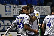 Bury Forward, Nicky Maynard (36) scores the winner 4-3 goal celebration during the EFL Sky Bet League 2 match between Bury and Milton Keynes Dons at the JD Stadium, Bury, England on 12 January 2019.